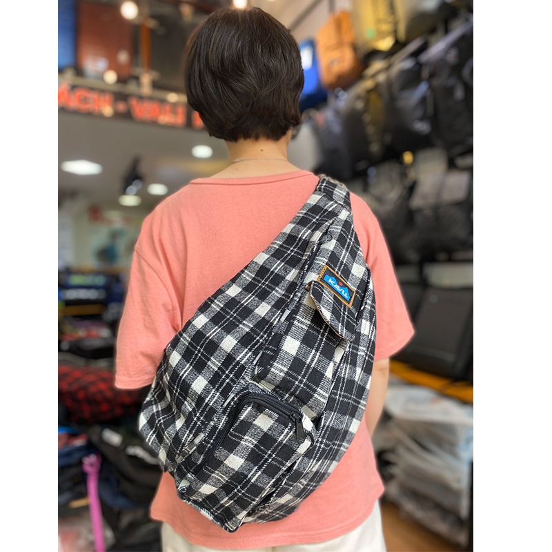 Kavu Plaid Rope Bag 1