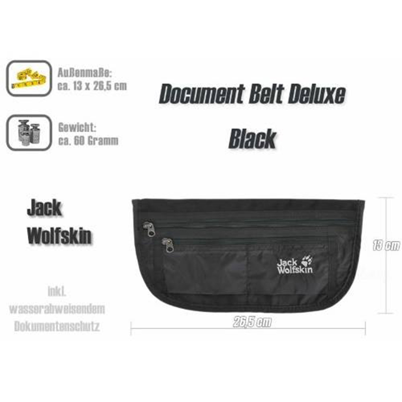 jack wolfskin document belt de luxe black 25