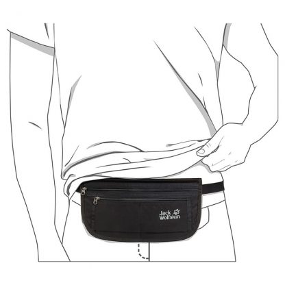 jack wolfskin document belt de luxe black 3 1